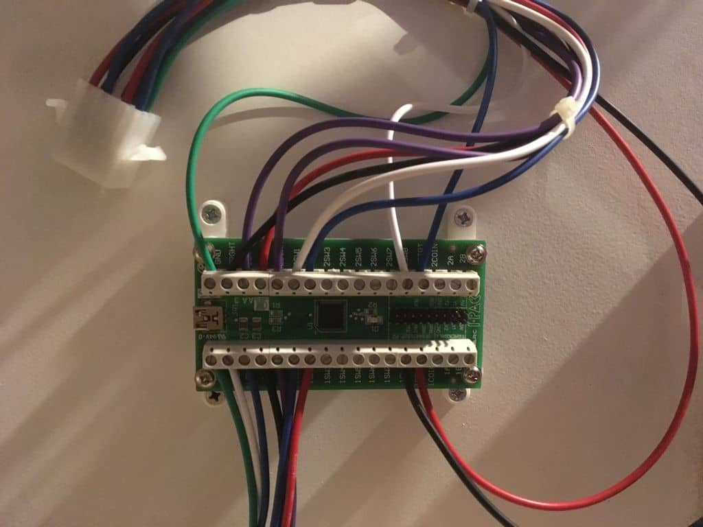 The wired up iPac board